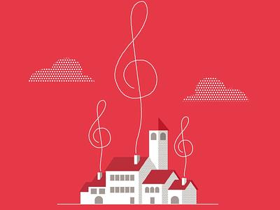 Pueblos village music