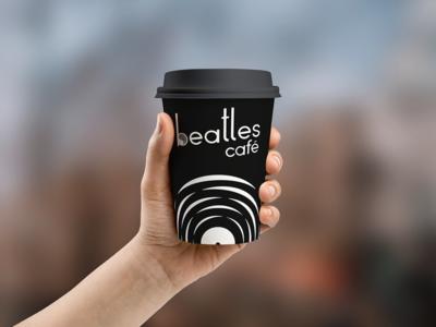 Beatles Café takeout cup design