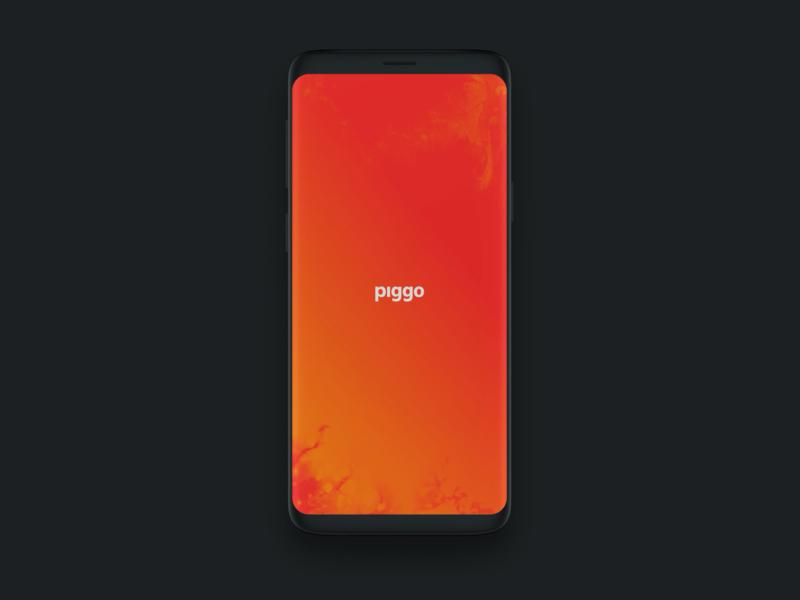 piggo Splash screen - Visual experiment ui motion ui animation ui motion graphic motiongraphic motion design motiondesign motion design animation