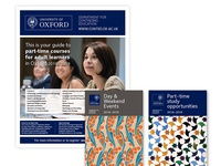 University of Oxford recruitment newspapers and prospectuses