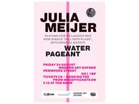 Julia Meijer at Modern Art Oxford gig poster