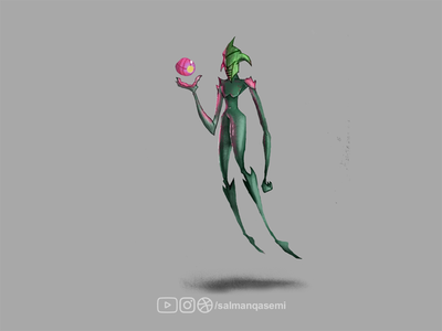 Concept character game art