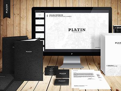 Platin Telecom corporate platin telecom logo illustrator slovakia kosice
