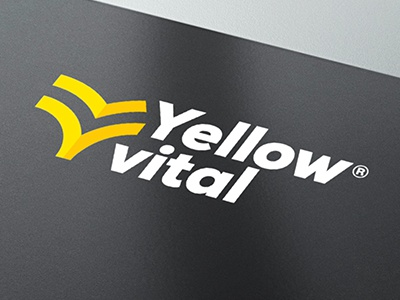 Yellow Vital yellow vital logo brand branding art direction