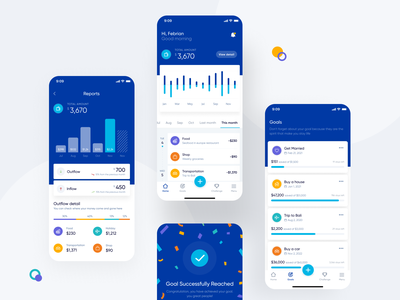 Personal Expense Management App Exploration cashflow card success message finance app finance ux ui dashboad dashboard app chart wallet money management management application app