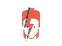 Bowie ziggy stardust stardust ziggy illustration clean david bowie overlap abstract simple blue red flat vector music bowie david