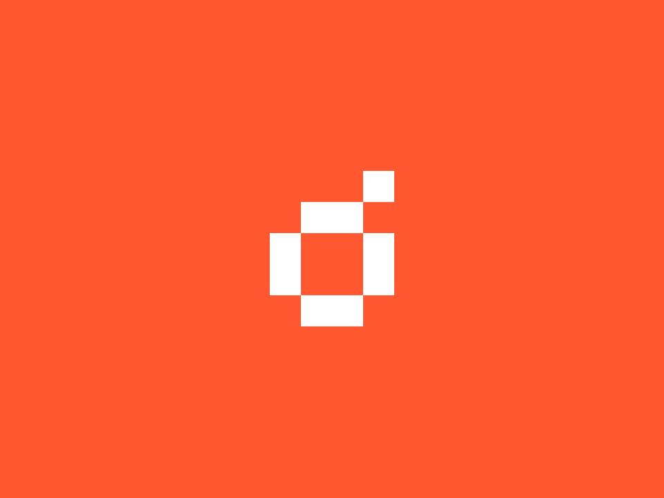 Digital Orange : Self brand pixel icon design brand identity marque logo brand branding orange digital