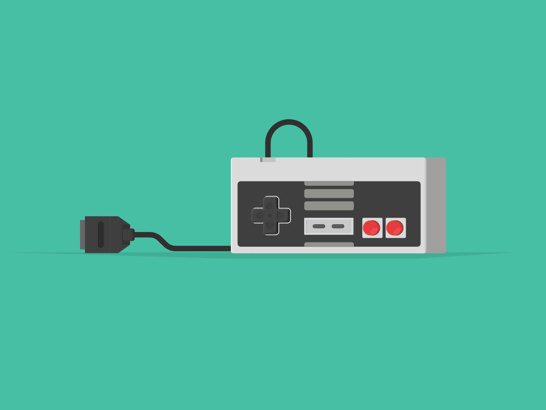 NES Controller design visual illustrator cc illustrators illustrator vector gaming gamer gamin retro console computer mario nintendo nes