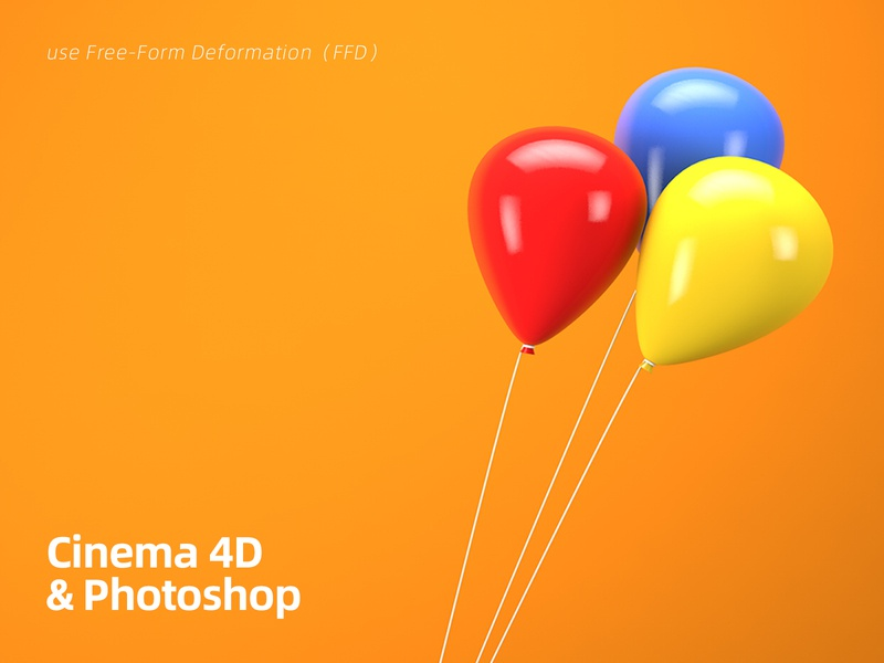 Colorful balloons rendering modeling balloons colorful concept 3d c4d