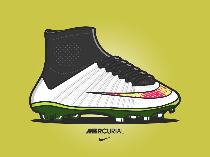 Nike Mercurial digital illustration character design awesomeness vector vector illustration illustration