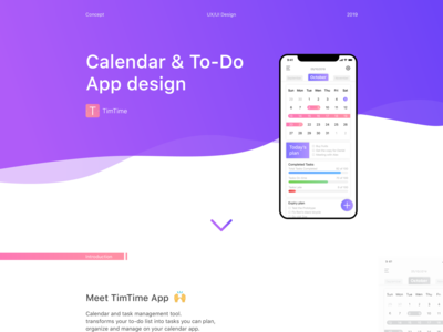 Calendar & To-Do App Design