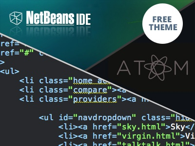 """Free Netbeans theme to look like Githubs """"Atom"""" github atom netbeans ide theme freebie free editor download html css php"""