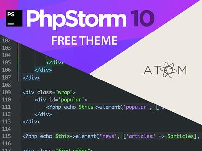 Free PhpStorm Atom Theme web html freebie download code text editor ide atom phpstorm theme free