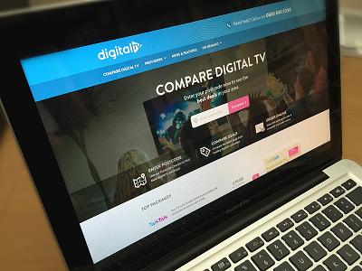Digital TV packages broadband compare design web redesign website tv digital