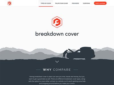 Breakdown Cover responsive icon compare website car cover breakdown