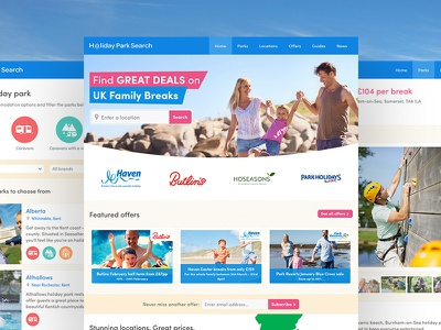 Holiday Park Search offer beach website camping touring glamping chalet caravan map search park holiday