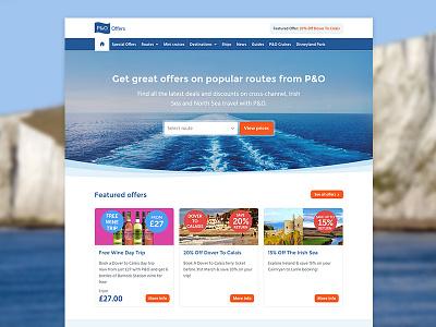 P&O Offers feature header design website offer ferry po