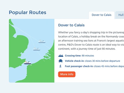 Route map tabs passenger car ship icons po offer ferry map route