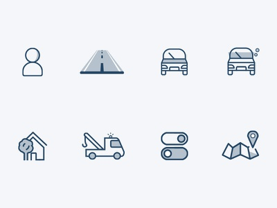 Breakdown Cover Icons swtich map truck user person home icon car breakdown cover