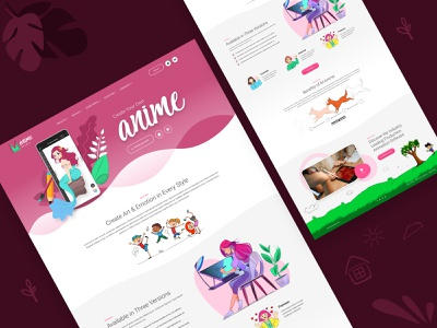 Drawing Software Landing Page logo graphic design animation