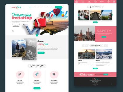 Travel Booking Landing Page graphic design