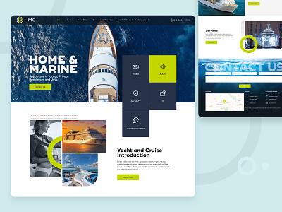 Yacht Tour Landing Page graphic design