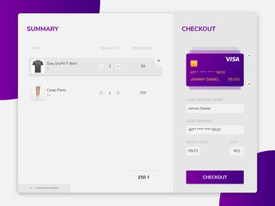 Credit Card Checkout - DailyUI002