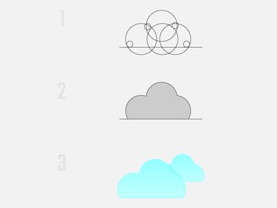 Cloud Icon - Golden ratio