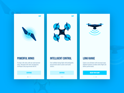 Drone On-boarding - Daily UI 023