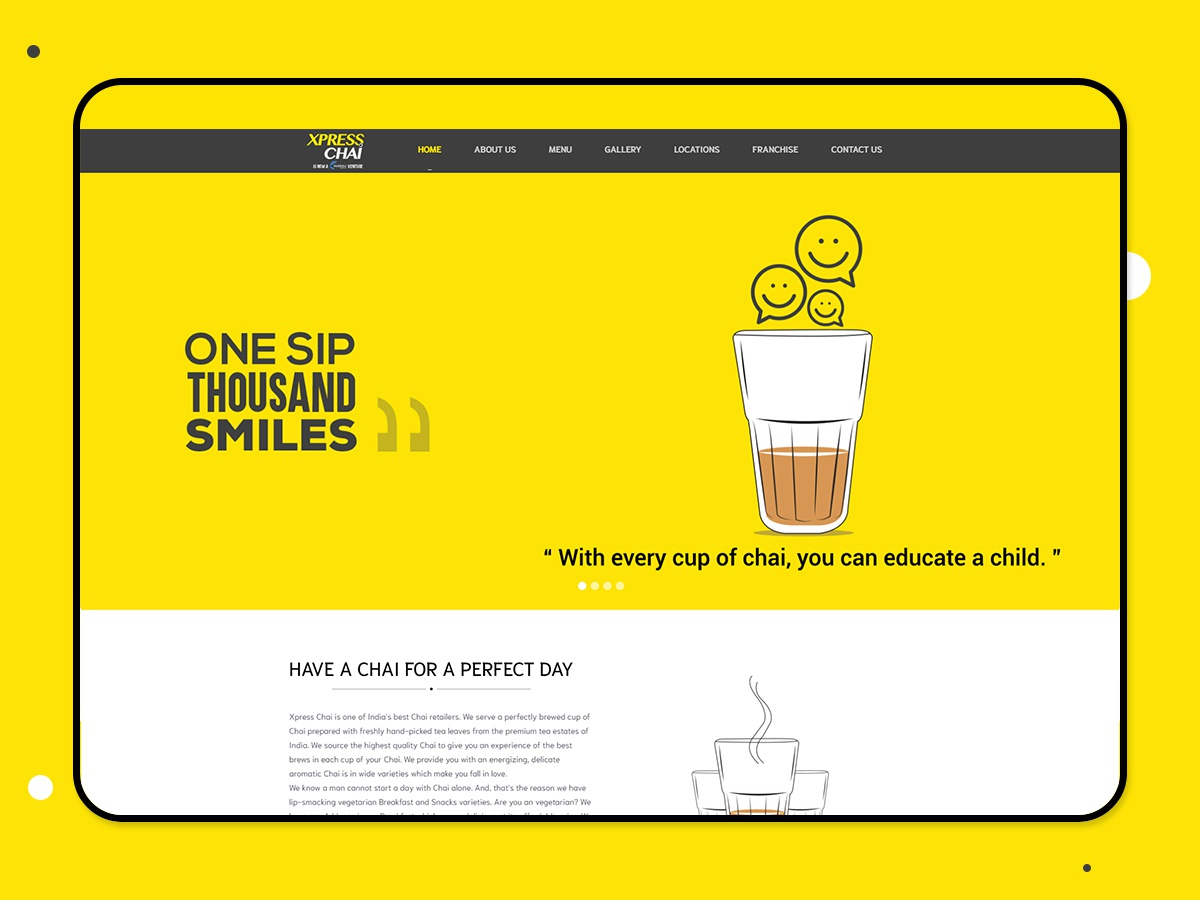 Xpress Chai fourart ui design web design