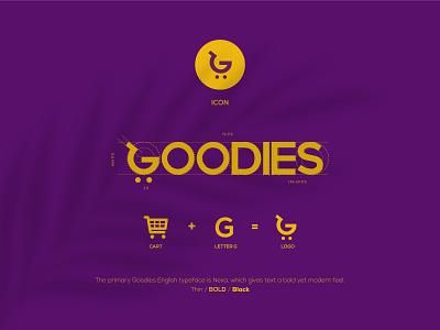 Goodies for a good life app logo fourart brand identity branding logo concept logo