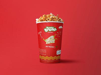 Fun starts with popcorn fourart fun red popcorn package design