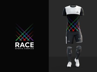 Let's Race fourart jersey minimal colors logo brandidentity branding