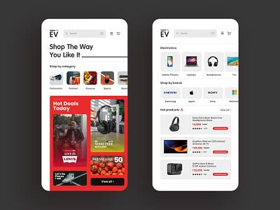 Shop the way you like it minimal fourart app design app ecommerce ui ui design