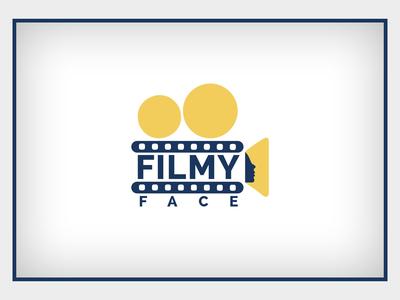 Filmy face logo