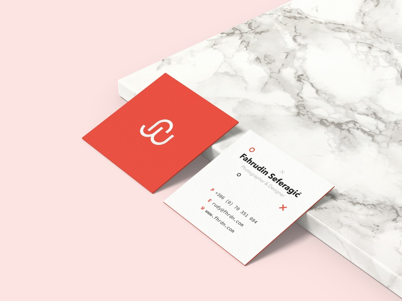 Personal Business Card branding design brand identity clean branding minimalist business card design square creative modern design personal project personal brand personal business cards business card business