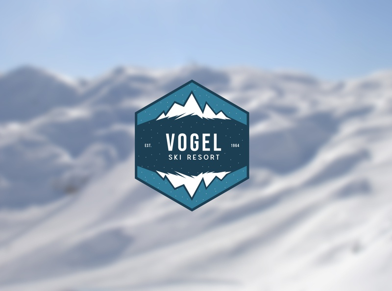 Vogel Ski Resort - Logo concept redesign design vector branding clean creative logo concept resort logo resort ski slovenia vogel