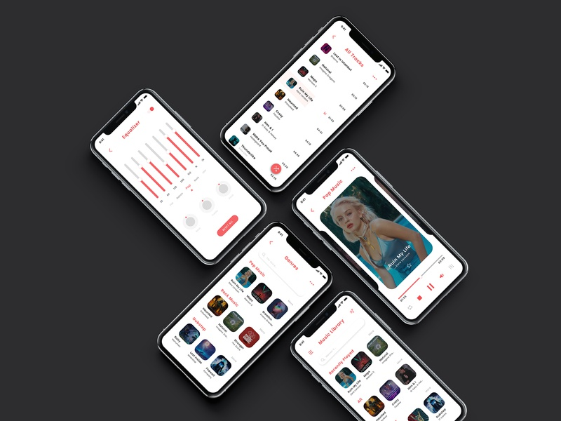 Music App Design minimalist minimalist app minimalist design appletv ios iphonex iphone apps music art app apps application music app music clean designs creative modern design