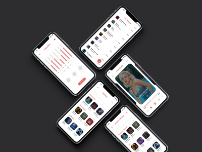 Music App Design minimalist minimalist app minimalist design appletv ios iphonex iphone apps music art app apps application music app music clean designs creative modern design