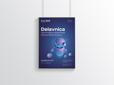 Workshop Poster robots futuristic poster design poster collection inspiration poster workshop vector illustration clean designs creative modern design