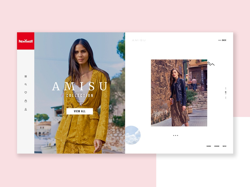 New Yorker Re-Design new web  design new yorker homepage fashion clothes ux ui web minimalist clean designs creative modern design