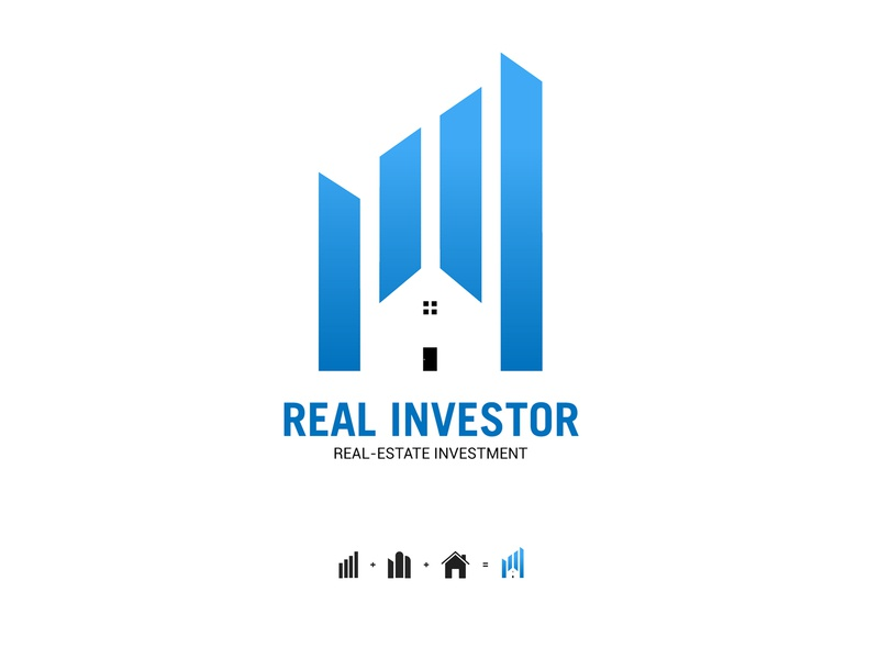Real-Estate Logo negativespace minimalist clean creative modern design investor investment buildings house real estate real realestate real-estate logo design logodesign logotype logos branding logo