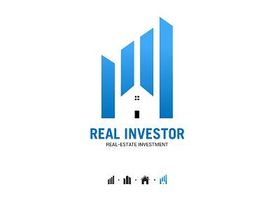 Real-Estate Logo negativespace minimalist clean creative modern design investor investment buildings house real estate real realestate real-estate logo design logodesign logotype logos branding logo
