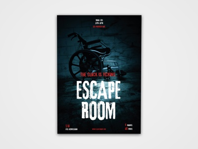 Escape Room Poster event print design print modern creative dare escher creepy scary designs design poster design poster room escape room escape