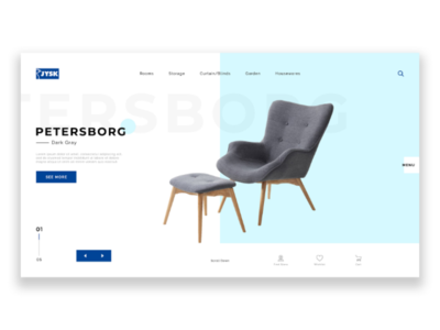 Furniture Store designer graphic designs minimal clean modern uxdesign uidesign ux ui homepage design store furniture jysk