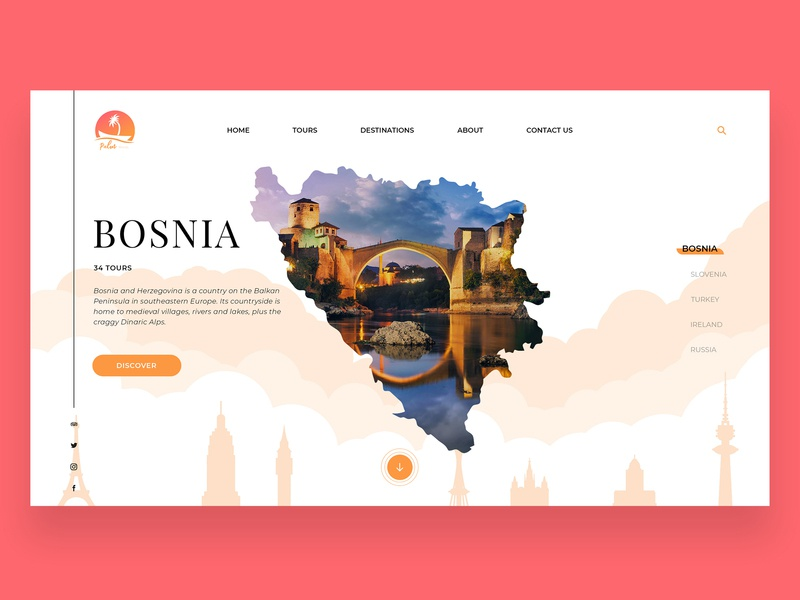 Palm Travel Agency - Homepage Design graphic designer logo illustration branding web clean designs creative design colors minimalist modern uiux ui homepage agency palm travel agency travel
