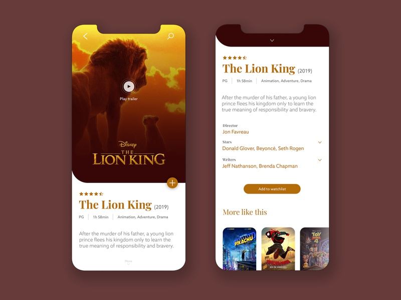Movie App Concept UI creative clean modern concept app design ios application movie app schedule imdb movies design uidesign ui mobile ui mobileapp mobile app movie
