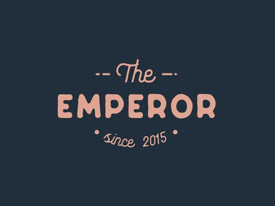 The Emperor typography illustration branding minimalist designs clean creative modern design logotype logodesign logo