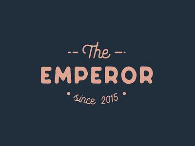 The Emperor typography illustration branding minimalist designs clean creative modern design logotype logodesign logo