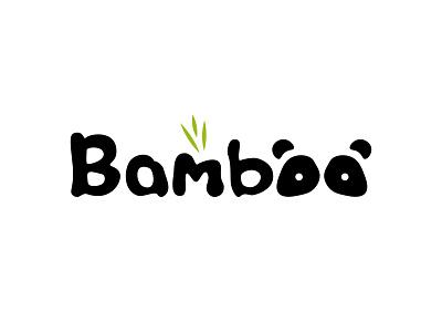 Bamboo branding minimalist designs clean design modern panda bear logotype creative dailylogochallenge panda logo pandas panda pandabear